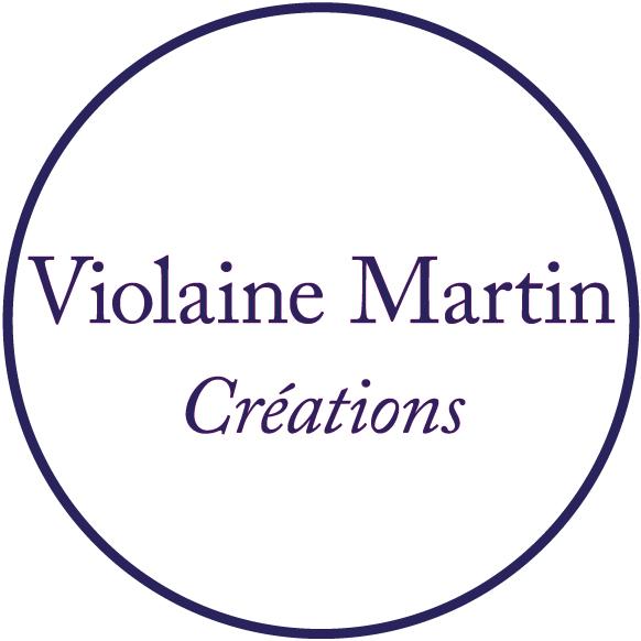 Logo rond - Violaine Martin Créations - Création textile - tissage jacquards, unis et velours - Hauts-de-France