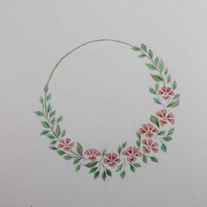 Illustration botanique - Lueur printanière - Violaine Martin Créations - Création textile - tissage jacquards, unis et velours - Hauts-de-France