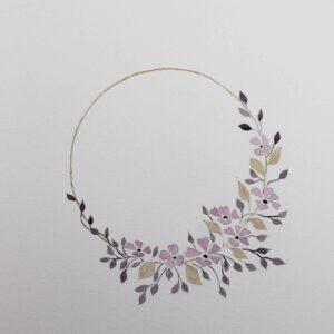 Illustration botanique - Lueur estivale - Violaine Martin Créations - Création textile - tissage jacquards, unis et velours - Hauts-de-France